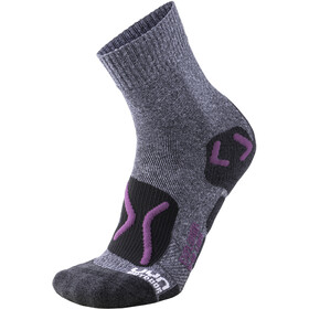 UYN Trekking Outdoor Expl**** Socks Women grey melange/violet